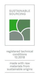 Sello de calidad Etiqueta de calidad Sustainable Sourcing