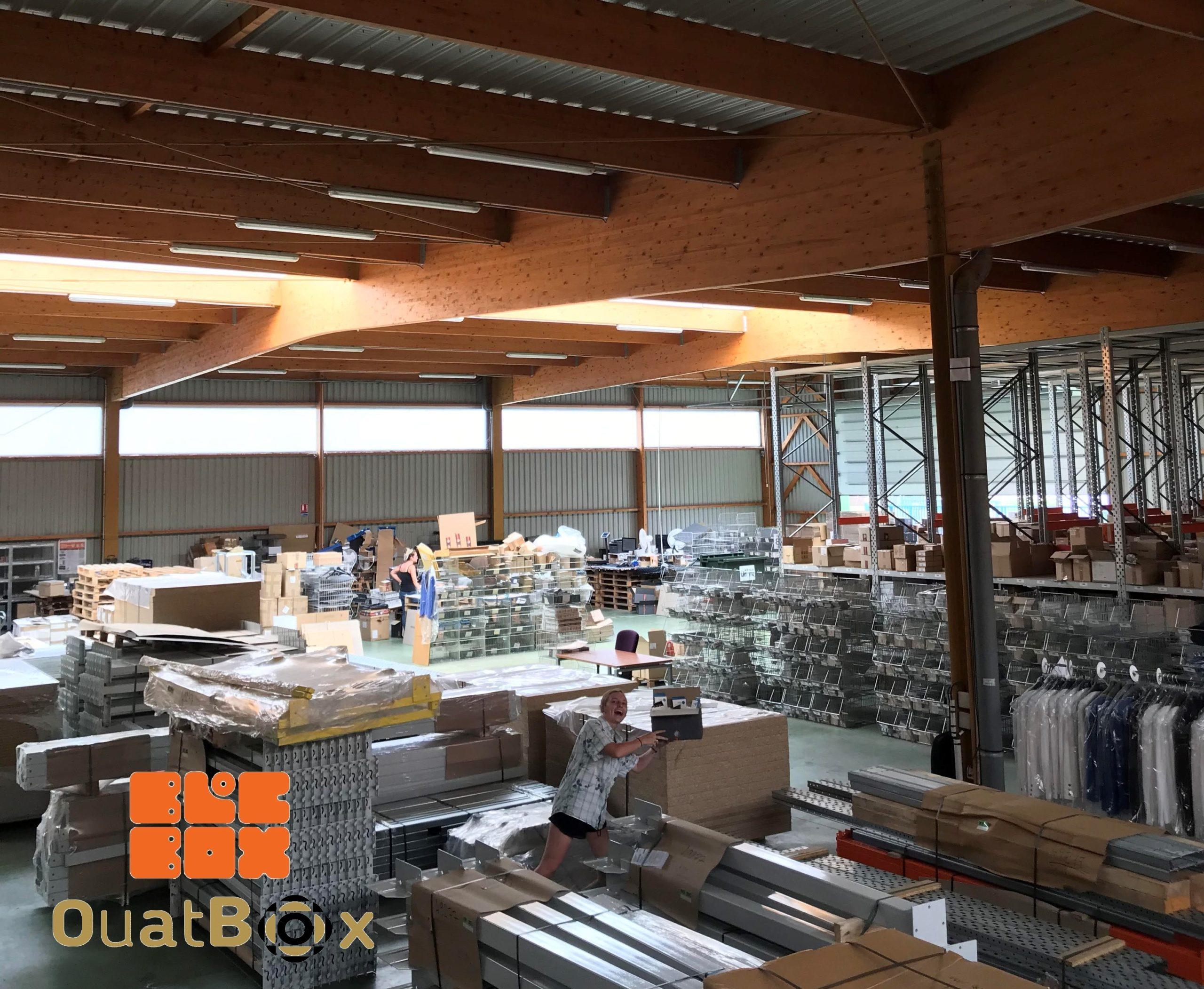 BlocBox OuatBox Entrepôt logistique Etxe logistika matière de calage